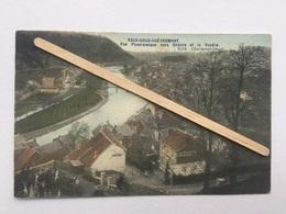 VAUX-SOUS-CHÈVREMONT»Vue Panoramique Vers CHÊNÉE Et Là VESDRE «colorisée (1906)Édit Charmont -Deger . - Chaudfontaine