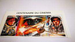 """Bloc """"centenaire Du Cinéma"""" étoffe Des Héros + Espace + Cinéma+philip Kaufman - Space"""
