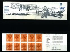 GREAT BRITAIN - 1980  £ 1  BOOKLET  SOPWITH CAMEL  RM  MINT NH  SG FH 2b - Libretti