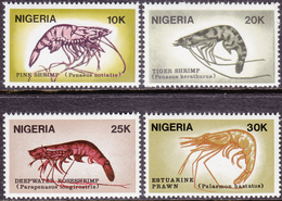 NIGERIA 1988, Shrimps, Crevettes, Krabben, MNH Complete Set - Nigeria (1961-...)