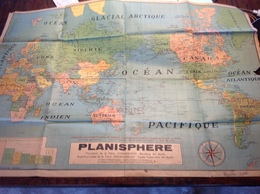 PAD. 307. Ancien Planisphères Avec Congo Belge - Cartes Géographiques
