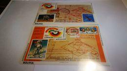 """Bloc """"exposition Philatelique"""" + Bolivie +lufthansa + Timbre Sur Timbre+ Espace - Space"""