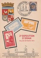 ALGERIE 1951 CARTE 2E EXPOSITION D ORAN - Algeria (1924-1962)