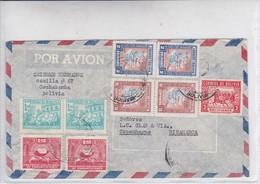 BOLIVIA. AIRMAIL. CIRCULEE COPENHAGUE DINAMARCA-TBE-BLEUP - Bolivië