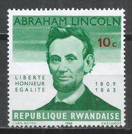 Rwanda 1965. Scott #92 (M) Abraham Lincoln * - Rwanda