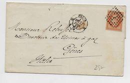 1863 - LETTRE De PARIS K Pour GENES (ITALIE / ITALIA) Avec N°23 - 1849-1876: Classic Period