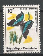 Rwanda 1965. Scott #114 (U) Papilio Bromius Chrapkowskii Suffert, Butterfly * - Rwanda