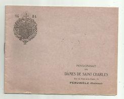 Péruwelz   *  (Reglement)  Pensionnat Des Dames De Saint Charles - Péruwelz