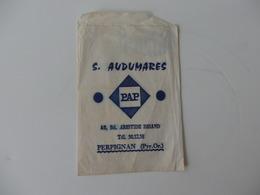 Pochette En Papier S. Audumarés 42, Bd Aristide Briand à Perpignan (Pyrénnées-Orientales). - Publicidad