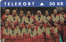 11820-SCHEDA TELEFONICA -  OLIMPIADI ATLANTA 1996 - DANIMARCA - USATA - Olympische Spelen