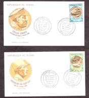 Tchad - Enveloppes Premier Jour 1971 - Ch.de Gaulle - Félix Eboué - France Libre - Tp Or Et Couleur - Chad (1960-...)