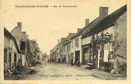 - Allier -ref-C07- Villefranche D Allier - Rue De Montmarault - Cafe Rapt - Cafes - - Autres Communes