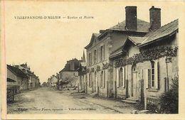 - Allier -ref-C06- Villefranche D Allier - Ecole Et Mairie - Ecoles - - Francia