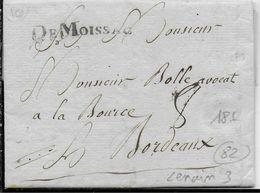 1786 - TARN ET GARONNE - LETTRE De MOISSAC Avec MARQUE LINEAIRE - 1701-1800: Précurseurs XVIII