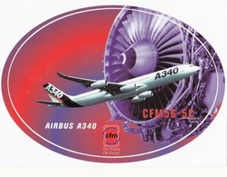 Autocollant - AIRBUS A340 - CFM56-5C - Cfm The Power Of Flight - Stickers