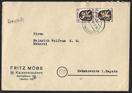 1945 - DEUTSCHLAND [Alliierte Besetzung - Französische Zone] - Cover + Michel 6 [Pfalz] + KAISERSLAUTERN - Zone Française