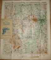 Deutschland - Karte Der Eder-Fulda-Landschaft Mit Rotem Eindruck Der Wanderwege Um 1910 - 53cm X 63cm 1:115'000 - Einban - Topographical Maps