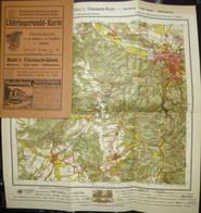 Deutschland - Thüringerwald-Karte 1921 - Blatt 1: Eisenach - 27cm X 30cm 1:50'000 - 32 Seiten Erklärungen - Topographical Maps