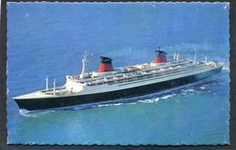 CPSM Format CPA - S.S. FRANCE From Le Havre, February 3rd 1962, From New York, February 13th 1962 - Paquebote