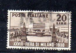 Y2098 - REPUBBLICA 1950 ,   Sassone N. 616  Usato . Fiera Milano - 6. 1946-.. Repubblica