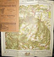 Deutschland - Thüringerwald-Karte 1921 - Blatt 16: Blankenburg - 27cm X 30cm 1:50'000 - 20 Seiten Erklärungen - Topographical Maps