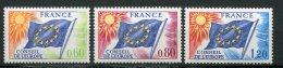 6389   FRANCE Service  N° 46/8**  60c, 80c, 1f20  Conseil De L'Europe  1975  TTB - Neufs