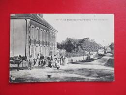CPA 10 LA VILLENEUVE AU CHENE RUE AUX CHEVRES ANIMEE - Frankreich