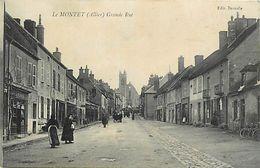 - Allier -ref-B996 - Le Montet - Grande Rue - Magasin - Magasins - Carte Bon Etat - - Frankrijk