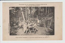 CAMPAGNE D'ALSACE 1914-15-16 - LA VIE AUX TRANCHEES - UNE BONNE MANILLE - JEU DE CARTES - France