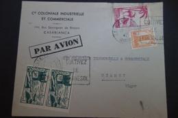 MAROC LETTRE DE CASABLANCA Obl DAGUIN - Marokko (1891-1956)
