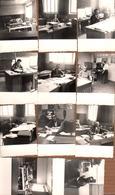 10 Photos Originales De Bureaucrates, Techniciens En Formation Ou Déformation Vers 1960/70 - Ambiance Bureau & Projets - Professions
