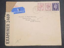 GRANDE BRETAGNE - Enveloppe De Newcastle Pour Le Congo Français En 1941 Avec Contrôle Postal - L 15108 - Marcofilie
