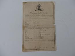 Bulletin De Note De Laurence Mathieu Classe De 4 éme Au Pensionnat Saint-Joseph à Bourg-en-Bresse (01). - Diploma & School Reports