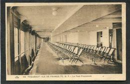 """CPA - Paquebot """"ILE DE FRANCE"""" - Le Pont Promenade - Dampfer"""