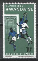 Rwanda 1966. Scott #164 (M) Soccer * - Rwanda