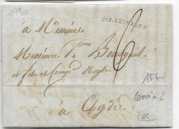 1790 - AUDE - LETTRE De CASTELNAUDARY Avec MARQUE LINEAIRE - 1701-1800: Précurseurs XVIII