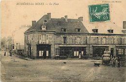 - Allier -ref-B987 - Buxieres Les Mines -place - Hotel Du Soleil D Or Tenu Par Gazet - Hotel Du Commerce Tenu Par Dumont - Francia