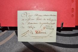 LETTRE PERIODE REVOLUTIONNAIRE CAD P.81.P STYRIEIX CACHET ROUGE P.P.P - Postmark Collection (Covers)