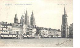 Tournai - CPA - Grand'Place Et Le Beffroi - Tournai