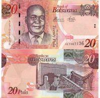 Botswana - 20 Pula 2014 UNC P. 31 Lemberg-Zp - Botswana