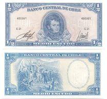 Chile - 1/2 Escudo 1962 - 1975 UNC Pick 134A Serie G 21 Lemberg-Zp - Chile