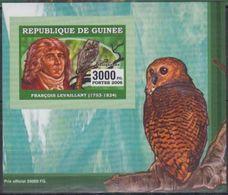Guinée 2006 François LEVAILLANT Bird Oiseau Owl Hiboux BF Luxe Gommé Imperf - Célébrités