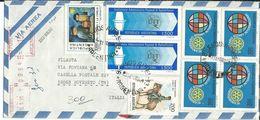 ARG007 - ARGENTINA -LETTERA AEREA DA BUENOS AIRES A ROVERETO 1980 - N. 1210+2x1211+4x1208 CAT. YVERT - Argentina