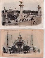"""LOT DE 9 CARTES   """"EXPOSITION UNIVERSELLE 1900 ET AUTRES - Cartes Postales"""
