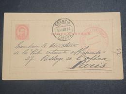 PORTUGAL - Entier Postal De Lisbonne Pour Paris En 1893 - L 15128 - Ganzsachen