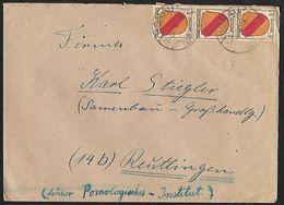 1946 - DEUTSCHLAND [Alliierte Besetzung - Französische Zone] - Cover + Michel 4 [Baden] + HONAU - Zone Française
