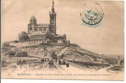 L15G066 - Marseille - N.D De La Garde - Vue Prise De La Passerelle De L'Ascenseur - ND N°15 - Petite Animation - Notre-Dame De La Garde, Lift