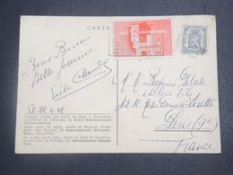 BELGIQUE - Vignette + Carte De La Foire Internationale D 'échantillons  De Bruxelles En 1948 Pour La France - L 15129 - Commemorative Labels