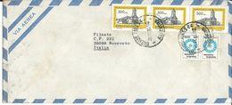 ARG004 - ARGENTINA - LETTERA AEREA DA BUENOS AIRES A ROVERETO 1981 - N 3x1134+2x1279 CAT. YVERT - Argentina