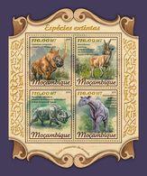 MOZAMBIQUE 2018 - Extinct Rhinoceros. Official Issue - Rhinozerosse
